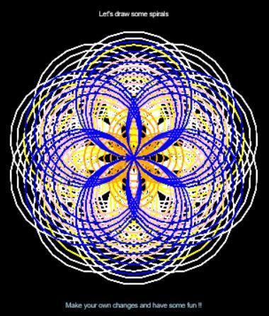 Python via Trinket (2) – Having fun with Spirals